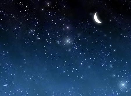 Luna en el fondo de cielo
