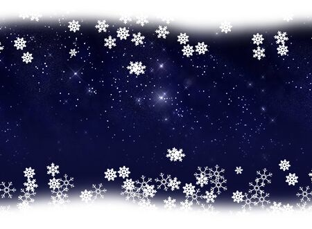 Star and snow background