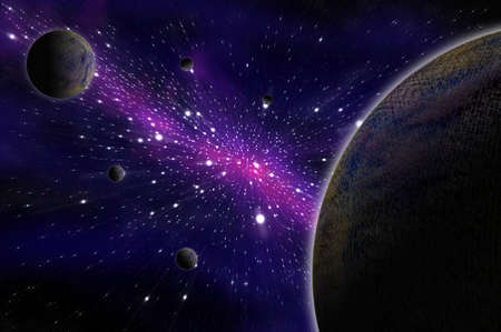 Space and astronomy, Illustration  Stock Photo