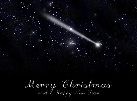 Star and snow, Greeting card  Standard-Bild
