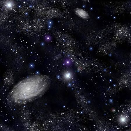 milky way galaxy: Stars and space Stock Photo