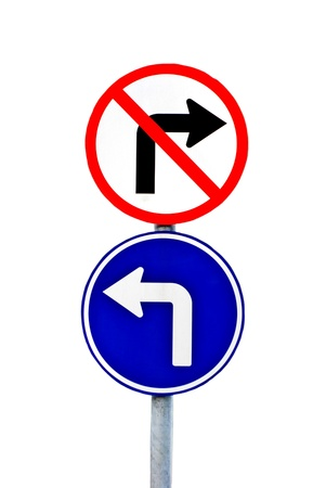 Road sign, Isolated Stock Photo - 8513495
