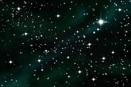 Star in the deep space photo