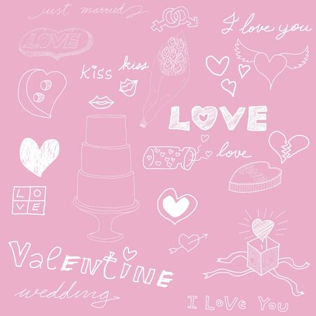 Love theme, Pink background  photo