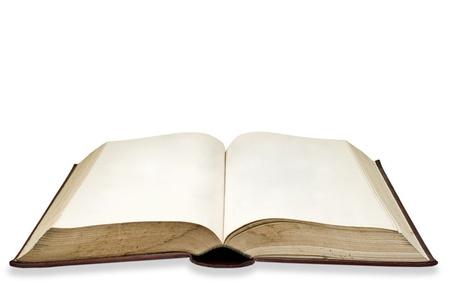 libros abiertos: P�gina en blanco en el libro antiguo, aislado