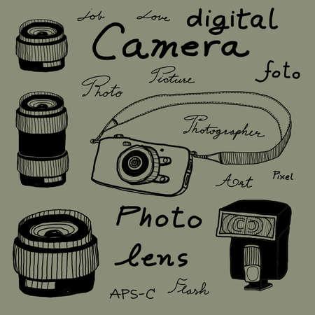 Digital camera sketch drawing photo