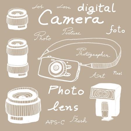 Digital camera drawing theme photo