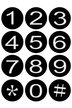 coefficient: Black number button on white background Stock Photo