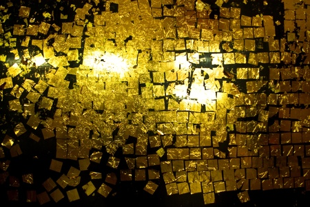 Gold leaf on wall