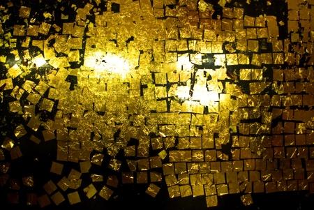 gold leaf: Gold leaf on wall