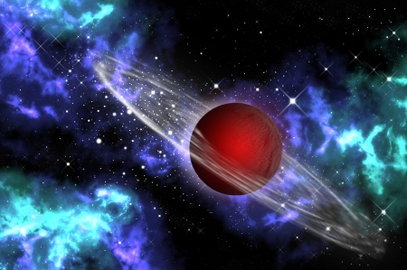 Red gas planet in the on Stock Photo - 9300683