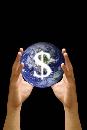 taget: World financial in the hand, Concept
