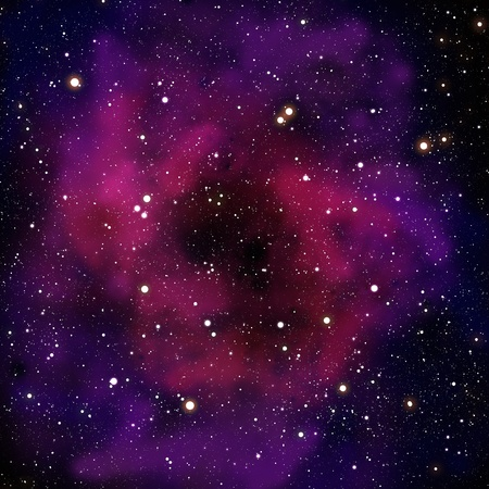 fractals: Nebula and star in the space area