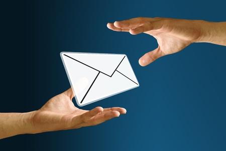 Postman sending mail icon to bearer photo