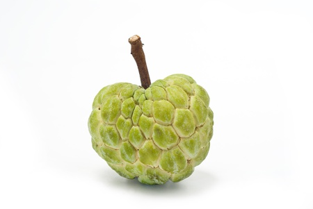 custard apple fruit: Custard apple on white background, Isolated Stock Photo
