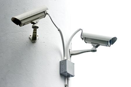 warden: C�mara de vigilancia en la columna de blanco, una c�mara de seguridad