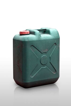 Green Fuel tank on white background, Isolated photo