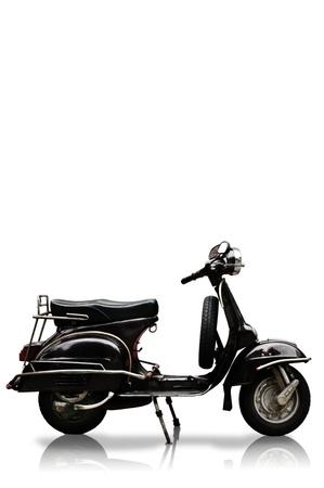 Vintage motobike on white background, Isolated