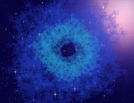 Blue nebula or blue plasma in the space, Space concept photo