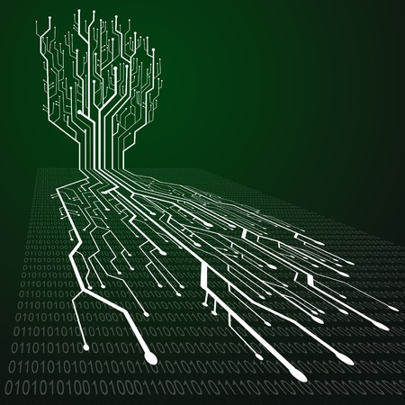 green computing: Circuit board ,Tree and root shape