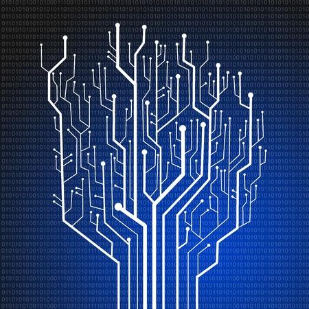 printed circuit board: Circuit imprim�, fond la technologie Banque d'images