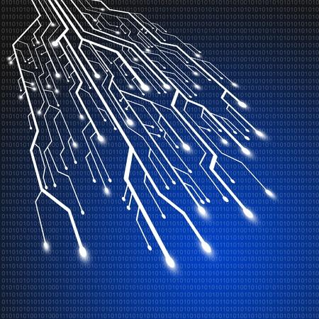Printplaat, technologie achtergrond Stockfoto