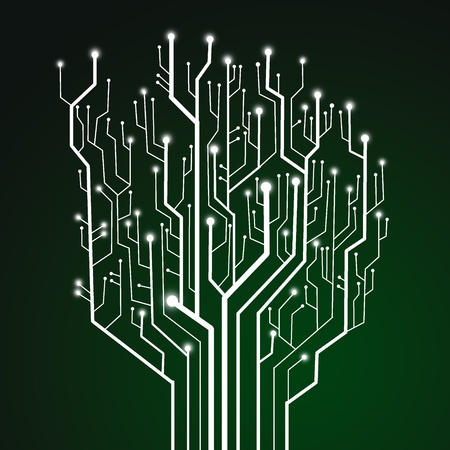 electronic board: Circuit board ,technology background Stock Photo
