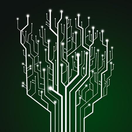 Placa de circuito, fondo de tecnología
