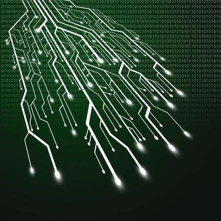 Circuit board tree shape,Technology background photo