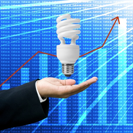 Ideas make business grown up, Creative ideas concept