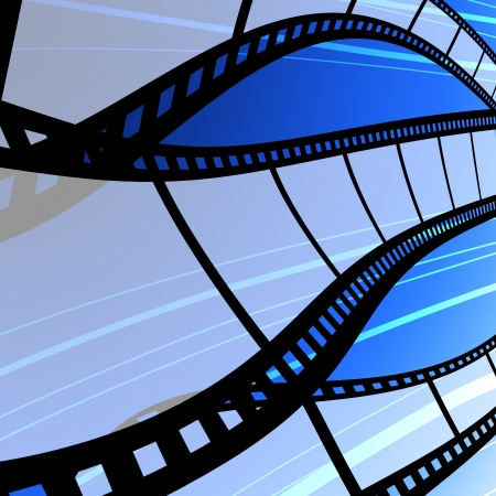 Blank film strip, Film industry concept Stock Photo