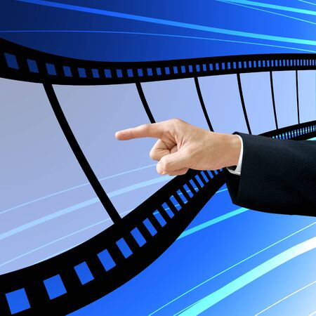 Investor choose the blank film, Film industry concept photo