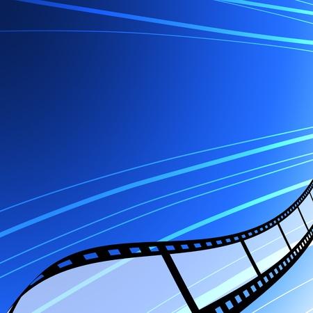 cintas: Tira de pel�cula en blanco, el concepto de la industria del cine Foto de archivo