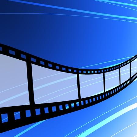 Flying film strip, Film industry concept