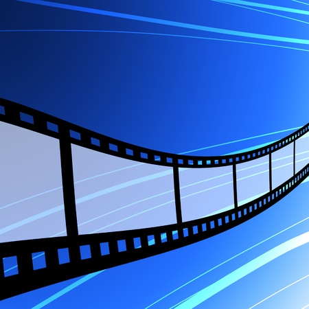 Flying film strip, Film industry concept