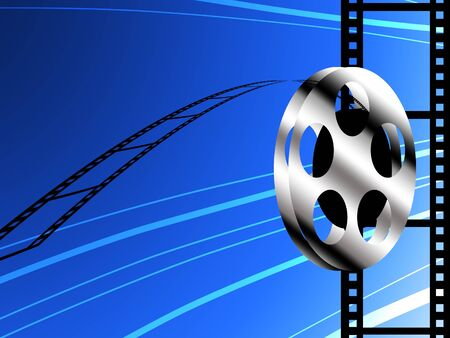 film industry: Film roll background, Film industry concept Stock Photo