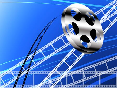 Film strip and roll, Cinema concept background photo
