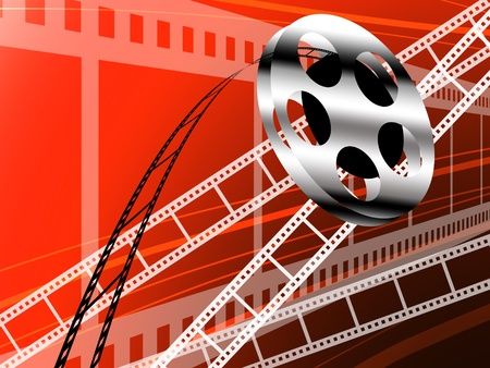 Film strip and roll, Cinema technology background photo