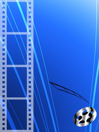 Film strip and roll, Film abstract background photo