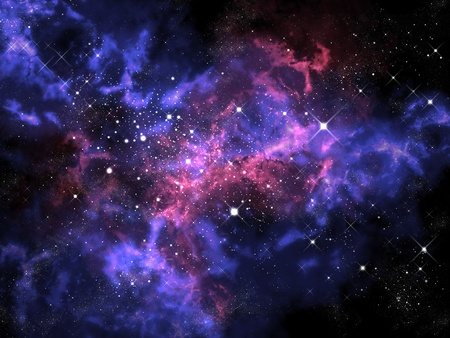Orion in het heelal, ruimte begrip