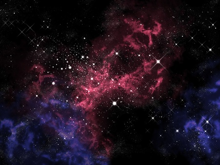 Orion in the universe, Space background