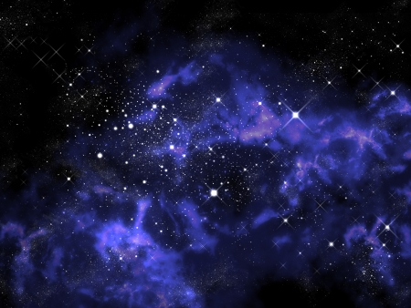 Orion in the universe, Abstract space background