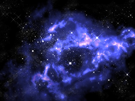 dark nebula: Horse shape Orion in the universe , Space concept