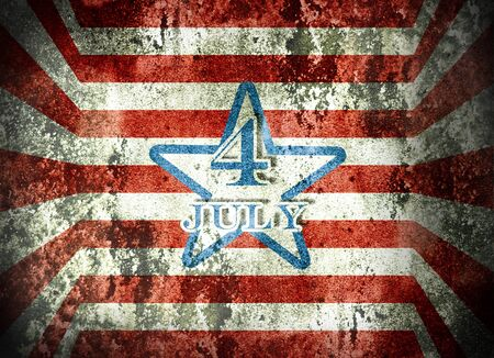 Independence day background in grunge style photo