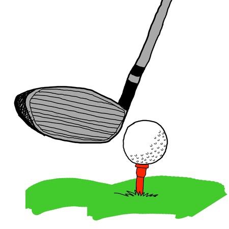 Golf game, Golf illustrations in sketch style illustration