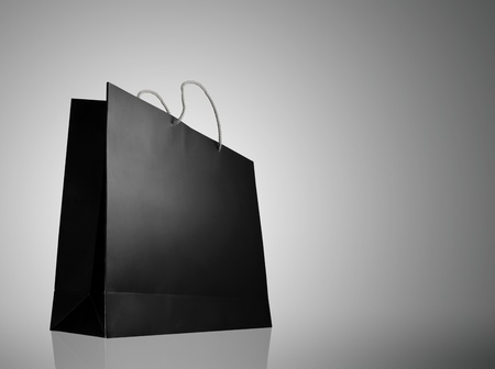 taget: Glaze shopping bag with lighting highlight on white background