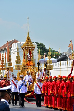 Bangkok, Thailand - April 9 : The royal Patriarch read the Buddhist scriptures in Racharot Noi on April 9, 2012  in The Royal Funeral of HRH Princess Bejaratana Rajasuda of Thailand