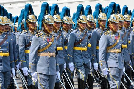BANGKOK THAILAND - APRIL 9 : Military parade on April 9, 2012  in The Royal Funeral of HRH Princess Bejaratana Rajasuda of Thailand Stock Photo - 13118796
