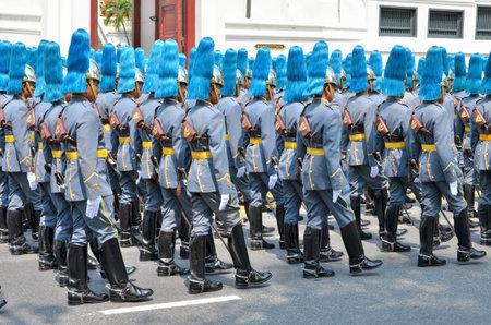 BANGKOK THAILAND - APRIL 9 : Military parade on April 9, 2012  in The Royal Funeral of HRH Princess Bejaratana Rajasuda of Thailand Stock Photo - 13118812