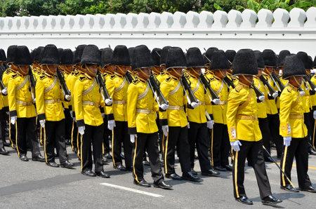 BANGKOK THAILAND - APRIL 9 : Military parade on April 9, 2012  in The Royal Funeral of HRH Princess Bejaratana Rajasuda of Thailand Stock Photo - 13118809